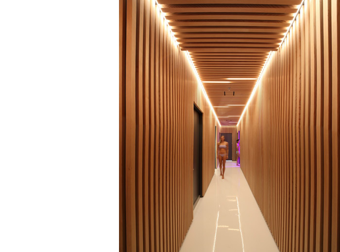 halsa health spa architectural designed hallway image