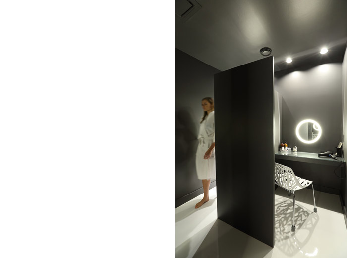 modern architecture halsa health spa powder room image