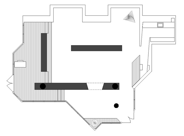 Hayden Beck Art Gallery architecture floor plan by Michel Laflamme Architect