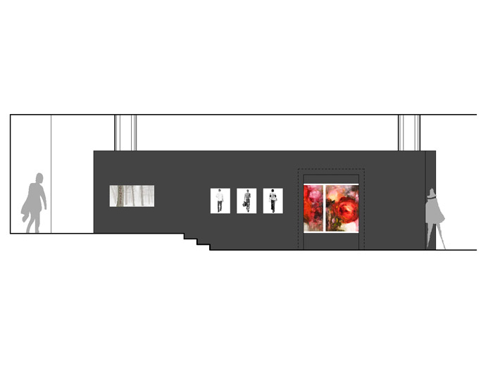 Hayden Beck Art Gallery architecture image of side view rendering by Michel Laflamme Architect