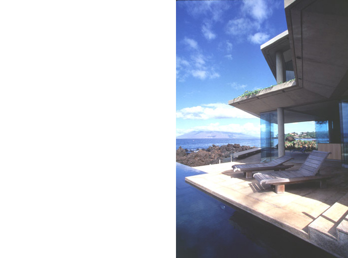Makena House modern architecture infinity pool
