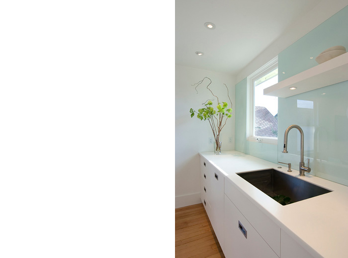 East Vancouver home custom renovation architecture and interior design of kitchen sink and window