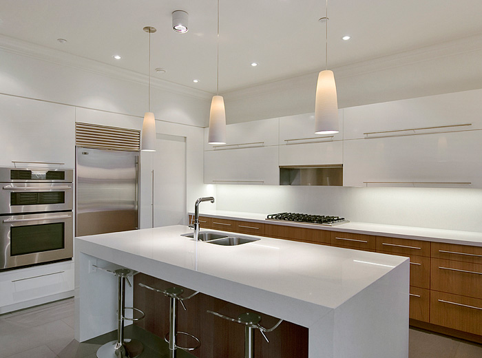 West Vancouver home custom renovation architecture and interior design of kitchen and island