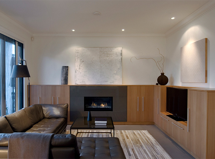 West Vancouver home custom renovation architecture and interior design of living room