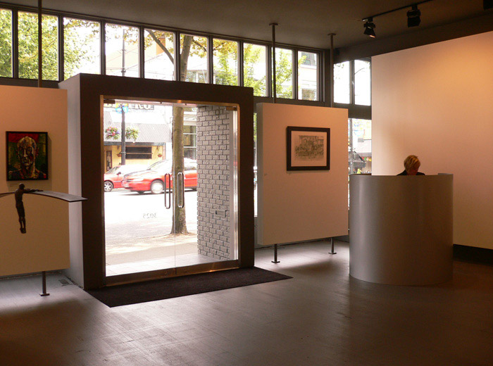 Winsor Art Gallery architecture in Vancouver designer glass double door entrance